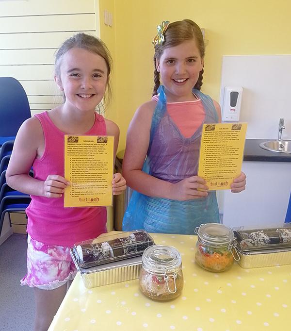 Totnosh cooking class girls with recipe