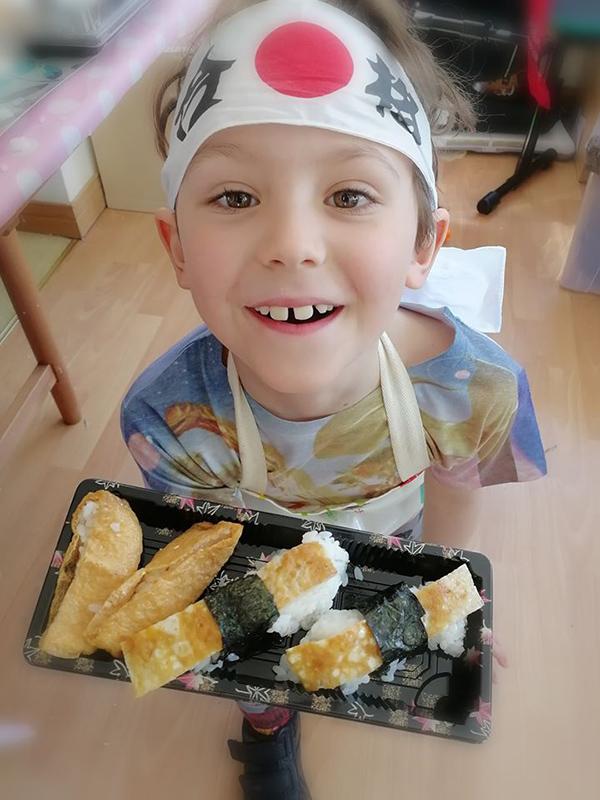 Very happy sushi chef at Totnosh